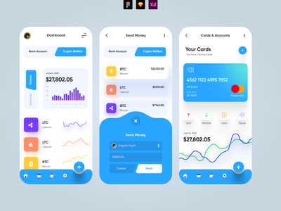 Finance App - Mobile UI app design mobile design mobileui mobile uiux shadows minimal app modern lightui interface financeapp finance mobile ui mobileapp mobile app ux ui app