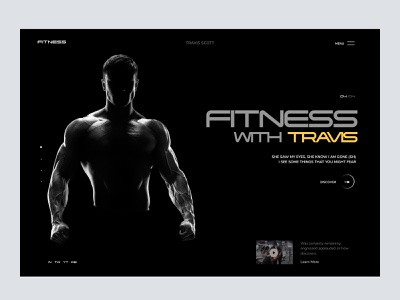 Landing Page: Fitness trainer homepage web page homepage design trainer landing page web design home page website web dark landing homepage