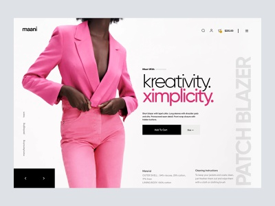 shopify - fashion apparel website woocommerce ecommerce webdesign web homepage landing landing page shopify store store ui shopify