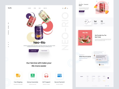 shopify website landing page for soft drinks design web design webdesign landingpage landing website woocommerce ecommerce store store ui shopify store shopify