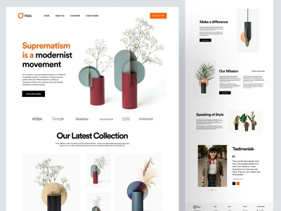 Landing Page Design Concept homepage web design website landing page landing