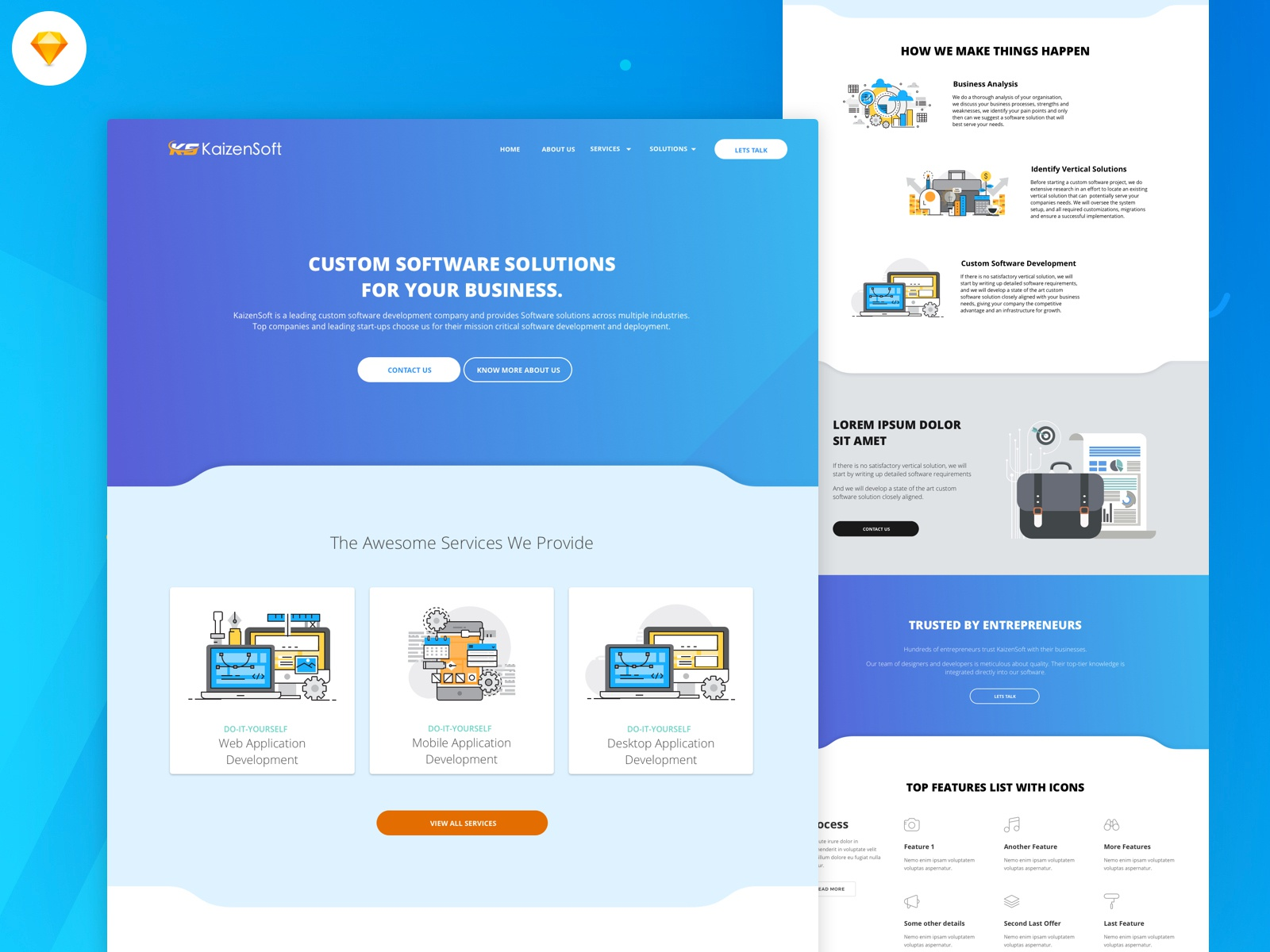 Software Company Landing Page Design By Mikey Design Inspiration