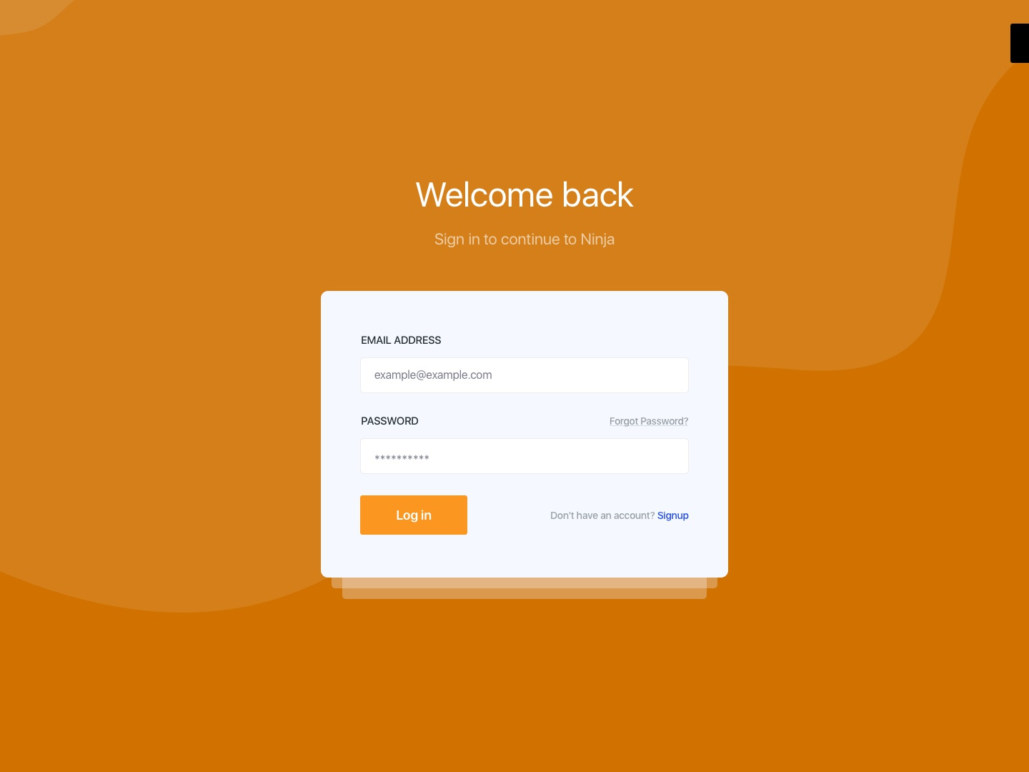 Login page Concept abstract waves login screen login form login page ui