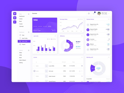 Financial Management App Dashboard
