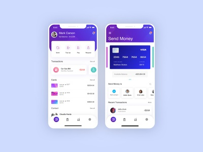 Personal Finance App   Dashboad and Send Monday finance ui mobile app ui apple app ios design banking app finance planning budget planner money convert money transfer send money mobile app design finance ai finance app