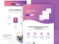 IoT landing page design