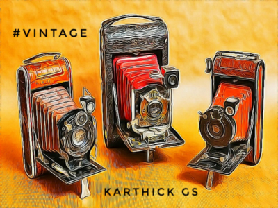 Vintage Friends karthick studios illustration camera classic vintage