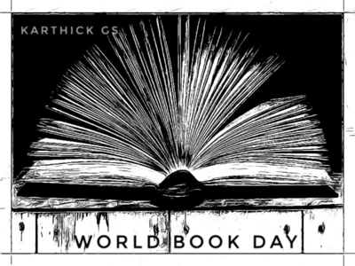 Book of a Mind karthick studios books sketch illustration world book day