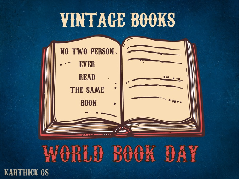VINTAGE BOOKS design sketch illustration karthick studios books