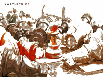King karthick studios brush cartoon illustrator photoshop sketch design illustration strategy soldier king chess