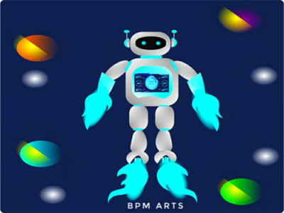 Robot Fly open source bpm arts sketch illustration design