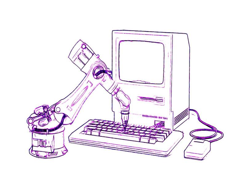 Vintage vs AI karthick studios robot design sketch illustrations illustration art illustration illustrator computer artificial intelligence vintage design vintage