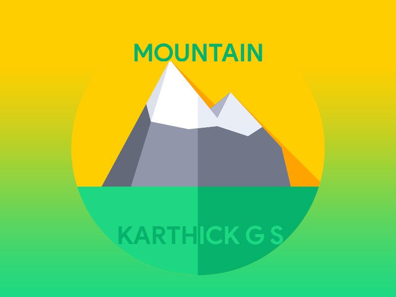 Mountain karthick studios nature illustration iceberg mountain