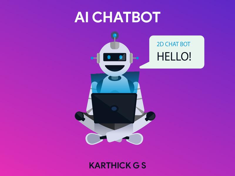 AI Chatbot karthick studios illustration 2d robot chatbot artificialintelligence