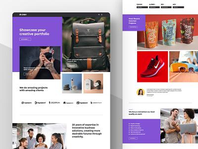 Creative Agency Website portfolio agency inspiration web ui website web design web ui minimal creative uidesign