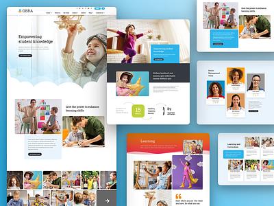 Obra - School Template Kit kids landingpage onepage creative website responsive ux ui design webdesign web template