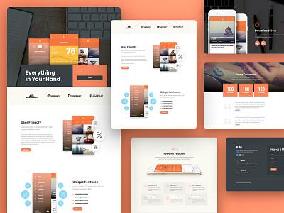 App Landing Page Elementor Template Kit applandingpage marketing digital landingpage inspiration design website web design minimal web creative