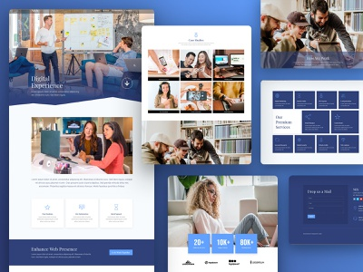 Marketing Agency Elementor Template Kit templatekit template marketing agency inspiration website web design minimal web creative