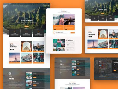 Travel Elementor Template Kit wordpress responsive travel templatekit template website web design web creative