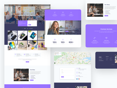 Creative Web Agency Template Kit template agency inspiration website web design minimal web creative