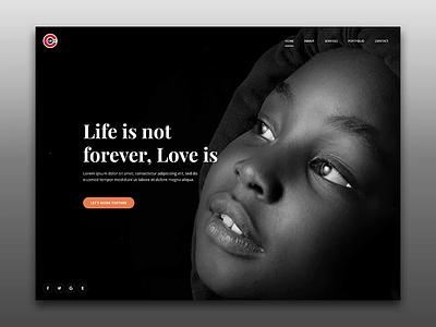 Creative Black web ui template bootstrap ui multi purpose ckavart ckav black and white black dark agency web design website ui design minimal creative