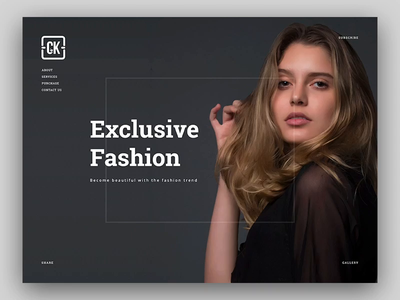 Fashion Web uiux ui website design layout dark unique creative clothes gallery portfolio web fashion
