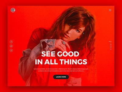 Red Web ckav template clean corporate agency bootstrap web ui one page ux landingpage inspiration ui design website web design web minimal ui creative