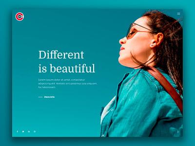 Obliv Creative Template portfolio landingpage one page bootstrap ui design website web design web minimal creative