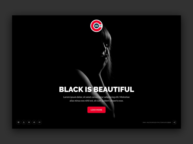 Dark HTML Template inspiration web ui one page bootstrap ui design website web design web ui minimal creative