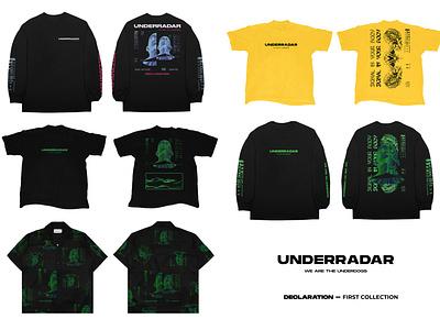 UNDERRADAR - DECLARATION collection 01 merchdesign merchandise typography illustration graphicdesigncentral photoshop artwork design
