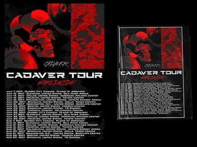 CADAVER Tour concert merchandise hiphop illustration typography graphicdesigncentral photoshop music artwork design