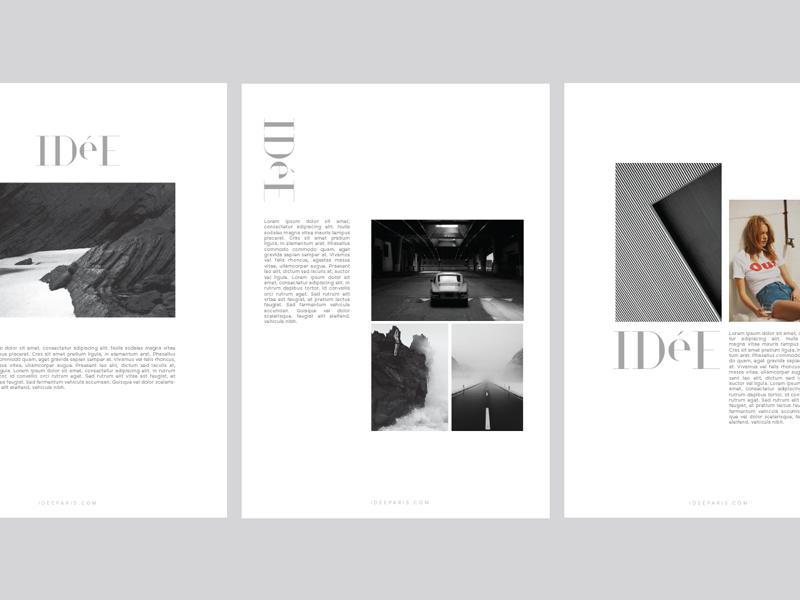 Idée print layout by gaspard macelin dribbble