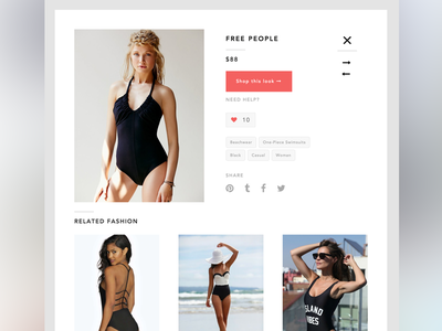 Detail page wireframe ecommerce store angular sketch ux ui mobile app fashion gleam