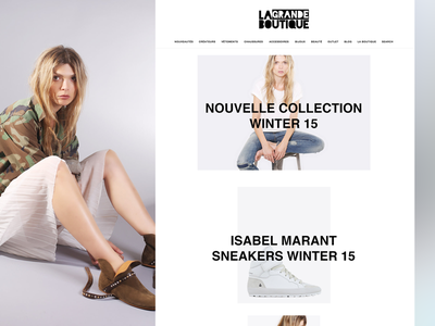 La Grande Boutique wireframe ecommerce store angular sketch ux ui mobile app fashion gleam