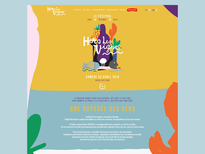Festival Hors les Vignes wine svg wireframe culture branding logo app ios agency sketch ux ui