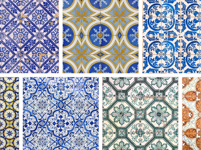 Connect Lisboa - Azulejos angular lisbon design mobile ui ux sketch artsy minimal template branding agency