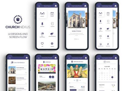 Church Nexus app ui 2018 churchapp designs graphics ui app appdesign uxinspiration uiinspiration uiux uidesign appui