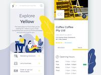 New Yellow responsive website