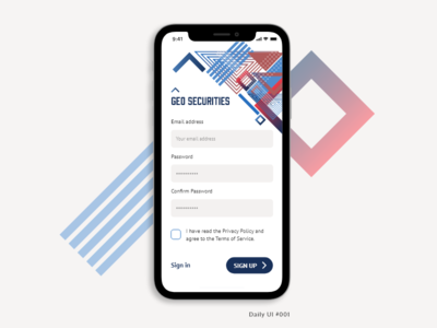 Daily UI 001 - Sign Up - Mobile