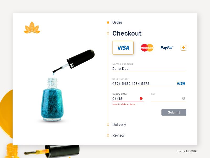 Daily UI 002 - Credit Card Checkout dailyui web ux  ui ux ui minimal cart checkout dribbble design daily ui 002 daily ui challenge branding app branding app