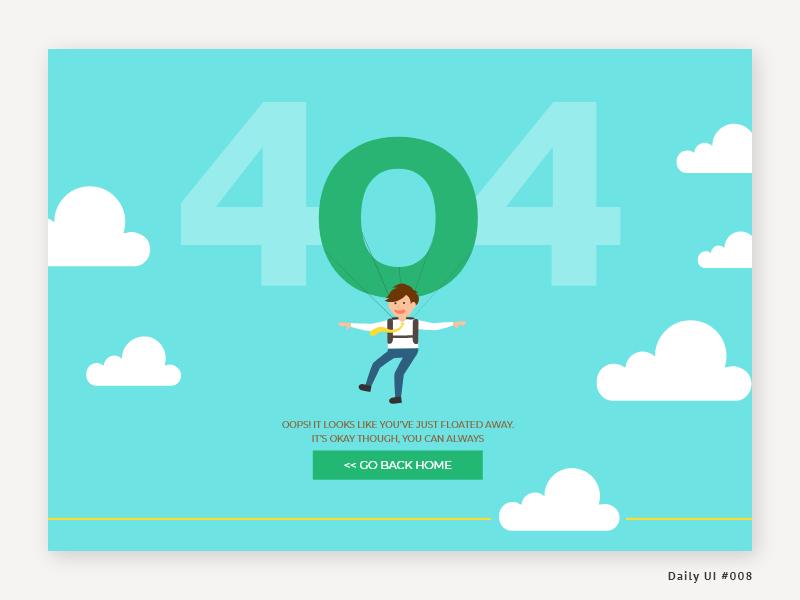 Daily UI 008 - 404 Page 404 error 404 page 404 website flat dailyui008 vector illustration web branding ux  ui ui ux daily ui dailyui challenge dribbble design