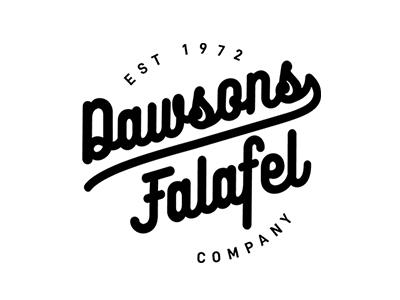 Falafel junk food street food logo design food falafel dawsons logo company