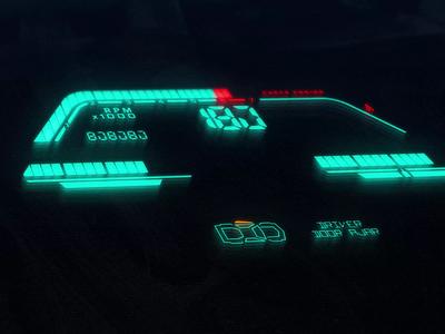 1988 Chrysler LeBaron Dashboard analog retro car dashboard dashboard ui dataviz instrument cluster panel digital display vehicle auto 80s oldschool motion motiongraphics crt tv screen dirty fingerprints