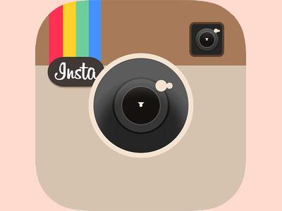 Flat Instagram App Icon