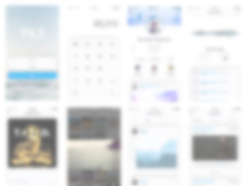 Sneak Peak tag spoiler alert freebie ui kit blur mobile app design ux ui