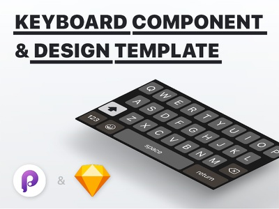 Functional iOS Keyboard Component for Principle download freebie free tuturial keyboard ios app ux ui prototype sketch principle