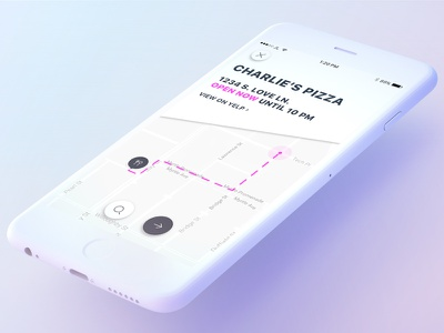 Eat Roulette simple minimal clean map restaurants food yelp mobile app ui ux
