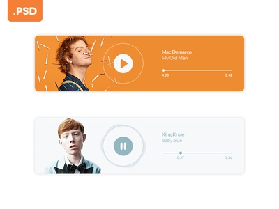 Simple Music Player - Free .Psd
