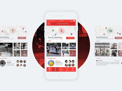 SkateKrak App mobile ride map skate iphone app application skateboard