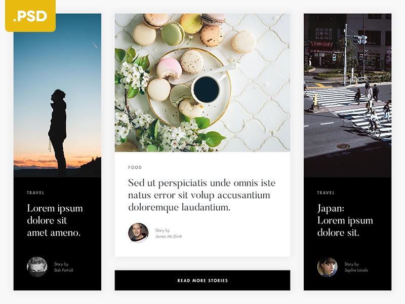 Articles Grid – Free .PSD